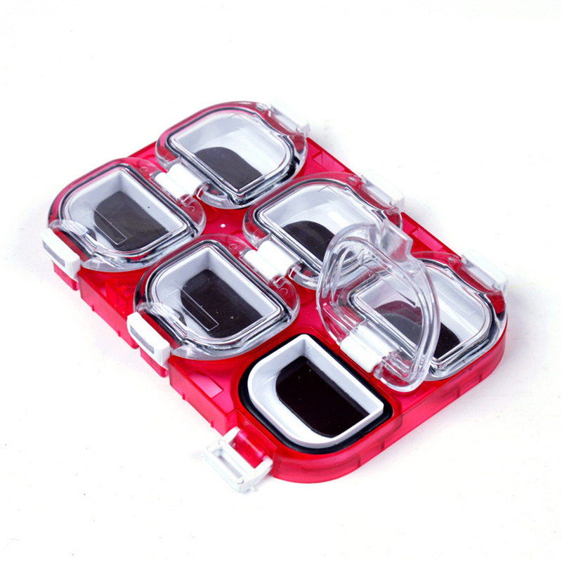 Mini Waterproof Fishing Tackle Box Hook Pesca Lures Fishing Storage Case with Magnet 6 Compartments