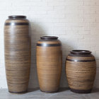 Chinese antique style Ceramic Tall Floor Vases for modern home decoration