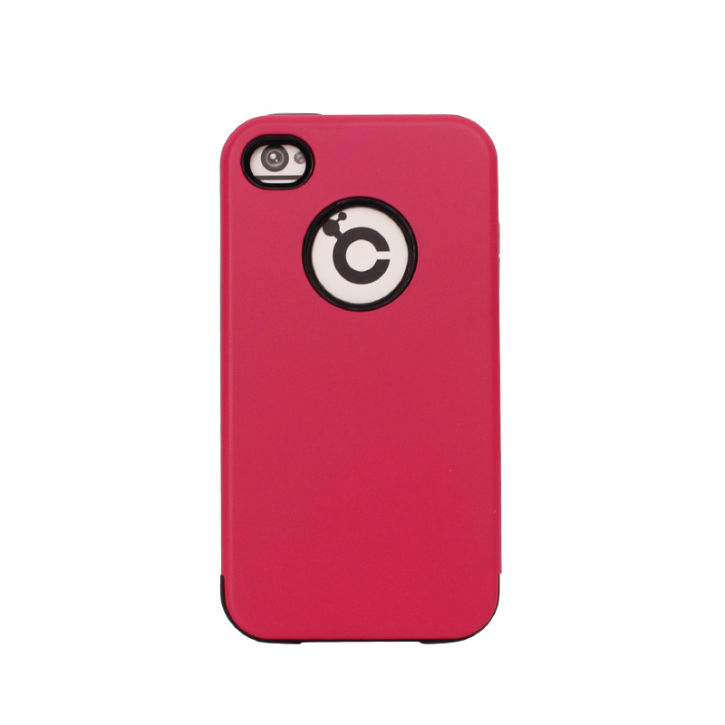 Hot selling top quality red color hybrid armor phone cases for iPhone 4 4s
