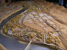 mountain area urban planning model maker