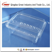 Custom PET Clear Vegetable Plastic Tray Fruit Plastic Tray Food Plastic Tray