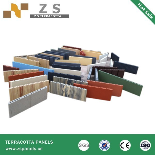 Low cost terracotta Decorative wall brick cladding panel,light weight exterior brick panels, terracotta curtain wall board tiles