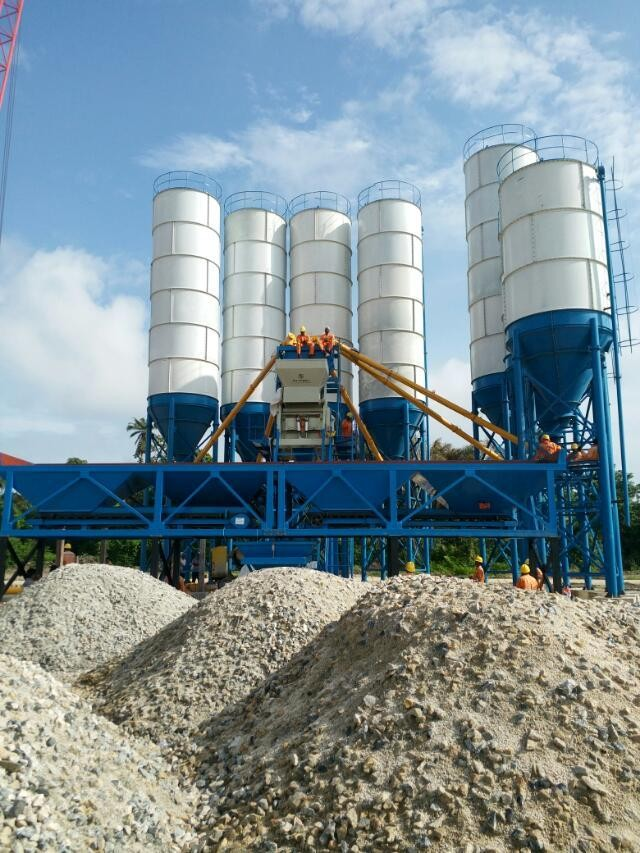 plant cement mobile concrete batching plant price