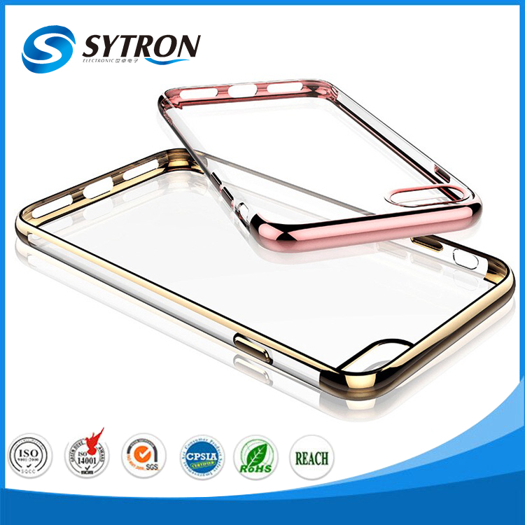 New Arrival Metal Bumper Case Cover Electroplated tpu Case for iphone 7
