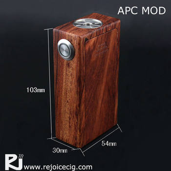 2015 newest product 18650 battery mod, APC wooden mechanical box mod
