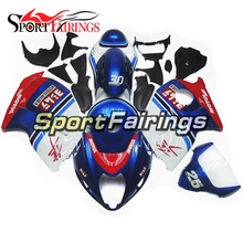 Injection ABS Blue Red White Fairing For Suzuki GSXR1300 Hayabusa 1300 97 98 99 00 <strong>01</strong> <strong>02</strong> 03 04 1997-2007 Motorcycle Fairings