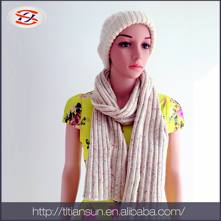 Wholesale Fashion Custom Women Thick Woven Winter Knitted Scarf
