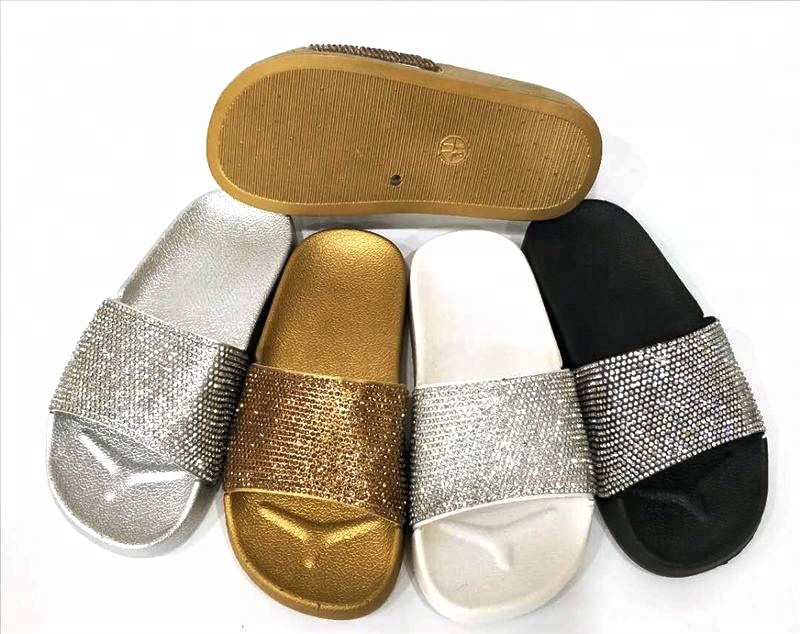 Women's diamond fashion custom slide <strong>sandals</strong>