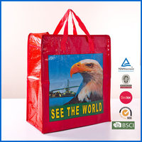 Printed laminated recycled China pp woven bag