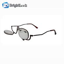 Latest fashion lady round frame make up black slim metal reading glasses for women