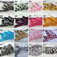 Mixed Designs Zebra Leopard Grosgrain Ribbon