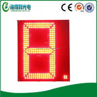 "New Technology Hidly Customizable Single Red Panle 12"" Outdoor Led Digital Signage"