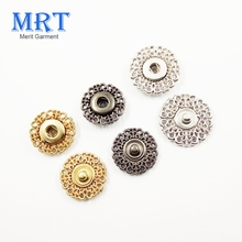 Metal zinc alloy sewing clothes button press ring snap button