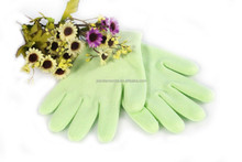 Simple New Products Knitted Cotton Rubber Spa Gel Gloves For Women Daily Life With PVC Box Pink