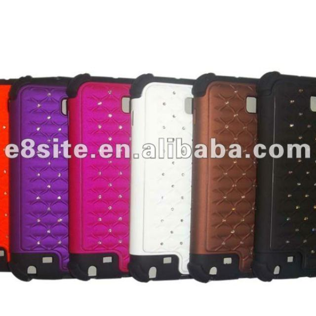 Spray Leather Oil Phone Combo Case For SamSung i9220 Galaxy note