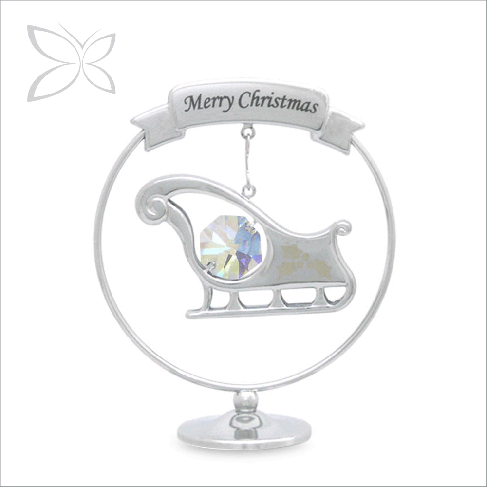 Special Designed Sliver Plated Metal Xmas Ornament Crafts