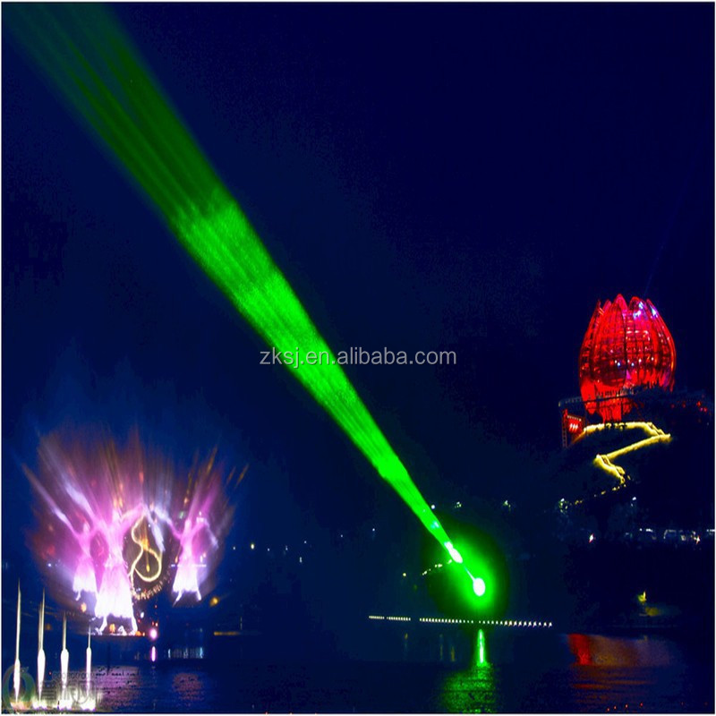 Large outdoor floating led light musical 3d movie laser water fountain show