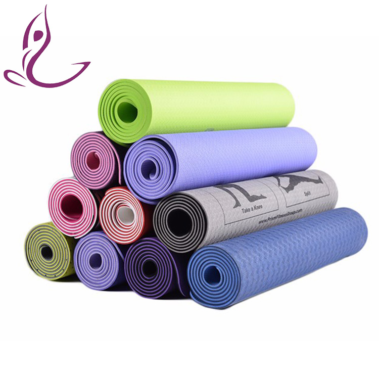 Portable customized logo printed waterproof fancy hanging holes yoga mat on rolls