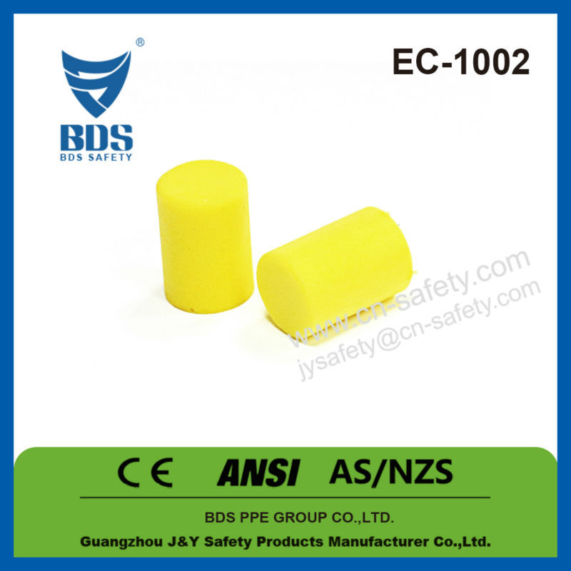 pvc soft foam material ear plugs, ear defenders, ear plugs with ce
