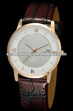 stainless steel leather watch with Japan Quartz 2115