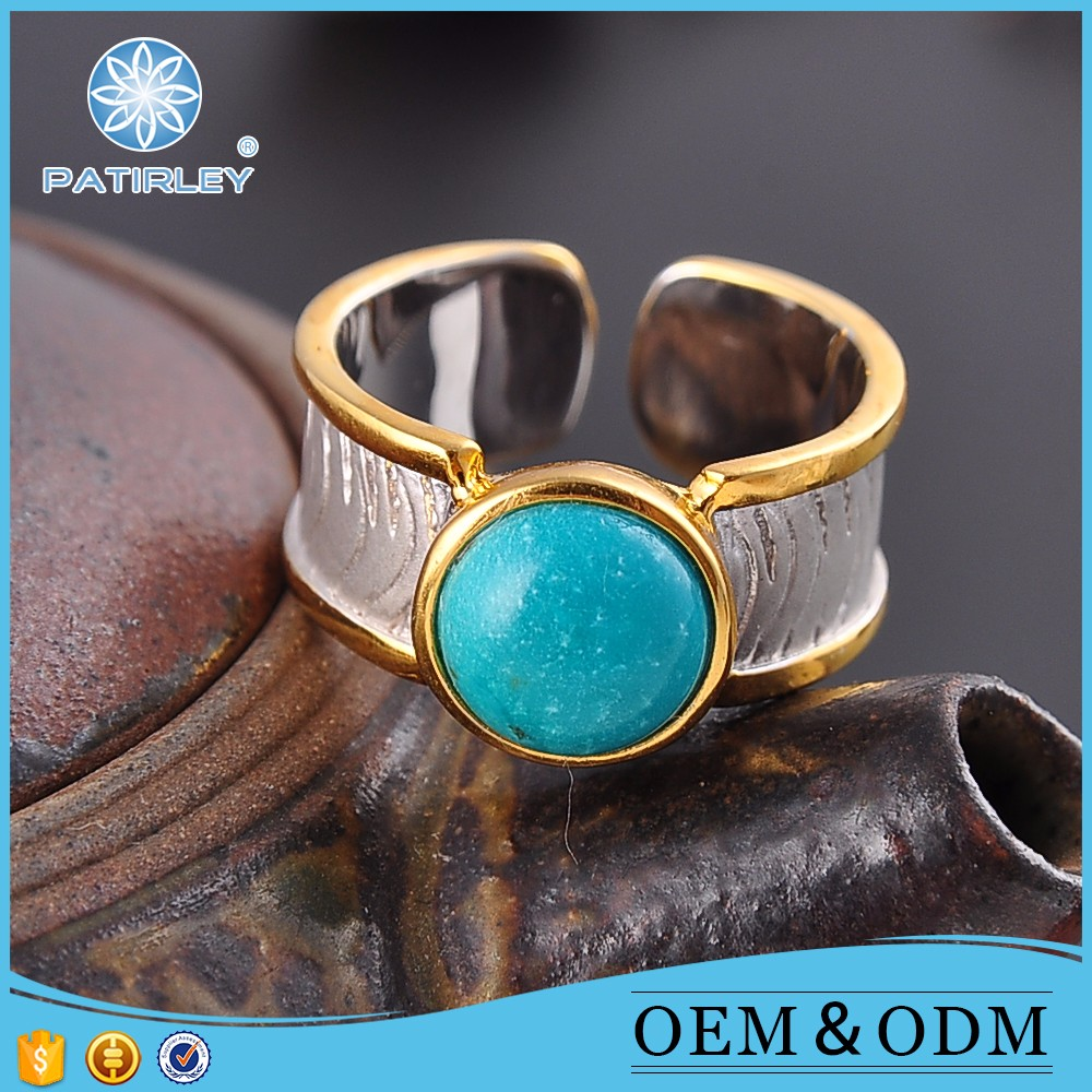 Turquoise rings vintage men stone rings jewelry silver rings for men