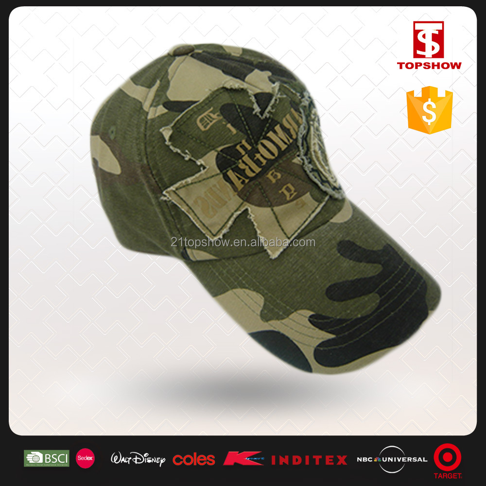 Embroidered 5 Panel Military Design custom trucker hat