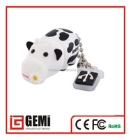 Dairy cow shape PVC USB flash drive pendrive memory stick