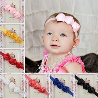 kids baby girls 3 rose flowers hair band headbands cute elastic hairbands headwear for infant children hair accessories