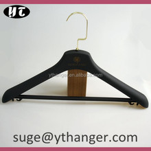 PL553 black hanger with bar for hotel bead clothes hanger