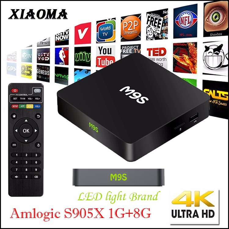 M9S X1 Amlogic S905 Android 5.1 Lollipop 4K KODI 16.0 fully loaded Smart Android Tv Box