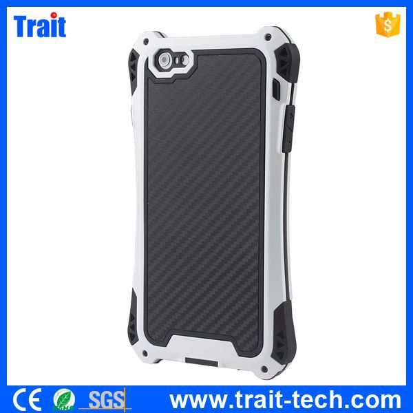 Waterproof Carbon Aluminum Metal Cover Case for iPhone 6 Plus