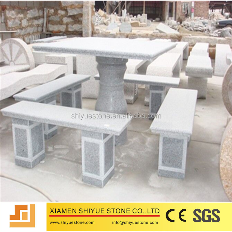 Factory customized granite stone bench for garden