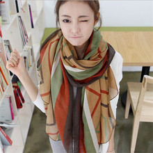 Printed polyester voile scarf curtain fabric