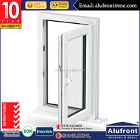 Australia standard double glazed aluminum safety glass casement window and door