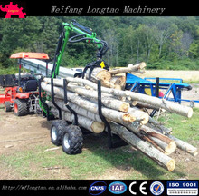 Forestry Machine Timber Trailer ATV Log Trailer for Tractor