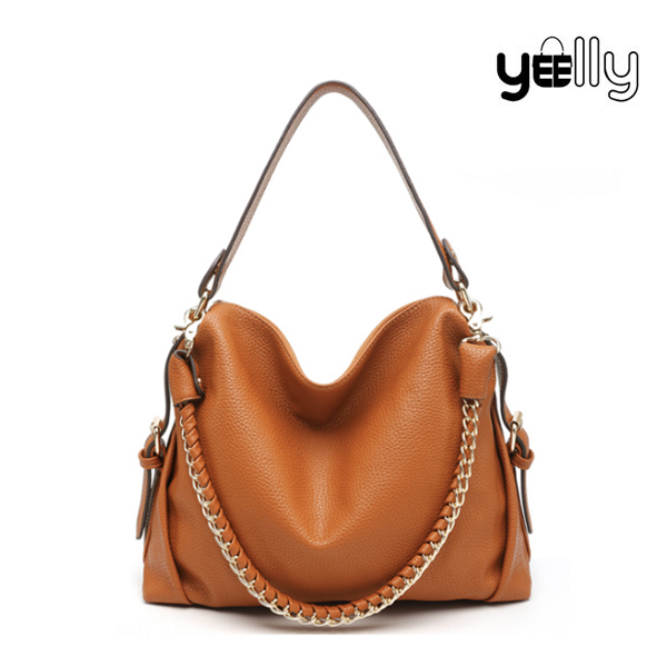 YEELLY Genuine Leather Hobo Bag Women Handbags Wholesale