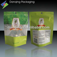 Plastic packaging bag ,stand up zipper lock pouch for food