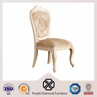 American Style Dining Chair Wood Fabric King Throne Chair