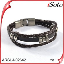 Wholesale Jewelry Supplies China Overstock Suvival Cheap Leather Bracelets