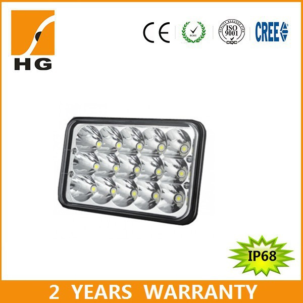 45W 7inch Sealed Beam Square High/Low Beam LED Driving Light