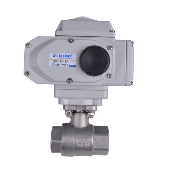 KLQD brand DN50 2 inch stainless steel material electric actuated ball valve