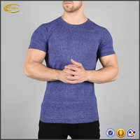 2017 NEW Wholesale Custom Logo High Quality 95 Cotton 5 Spandex OEM Gym Fitness Tshirts