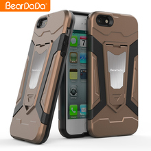 TPU+PC hybrid Magnet kickstand smartphone case for iphone 5 5s back cover