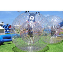 Popular inflatable zorb ball human race,grass small zorb ball,land zorbs for bolwing pins