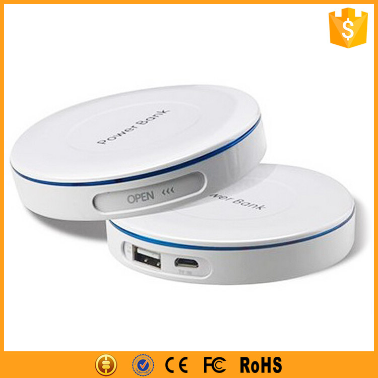 Good Price Portable Usb Power Bank Mini So, Rohs Harga Power Bank 4000mah Round Cute Powerbank Promotion