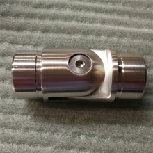 Wholesale handrail fitting 180 degree stainless steel joiner flexible pipe connector