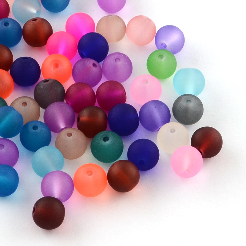China Price Frosted Glass Beads for Clothes(FGLA-R001-6mm-M)