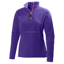 Most popular winter half zip fleece jacket women