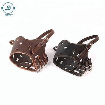 2018 Hot Selling Strong Pu Leather Dog Muzzle For Pet Ready in Stock