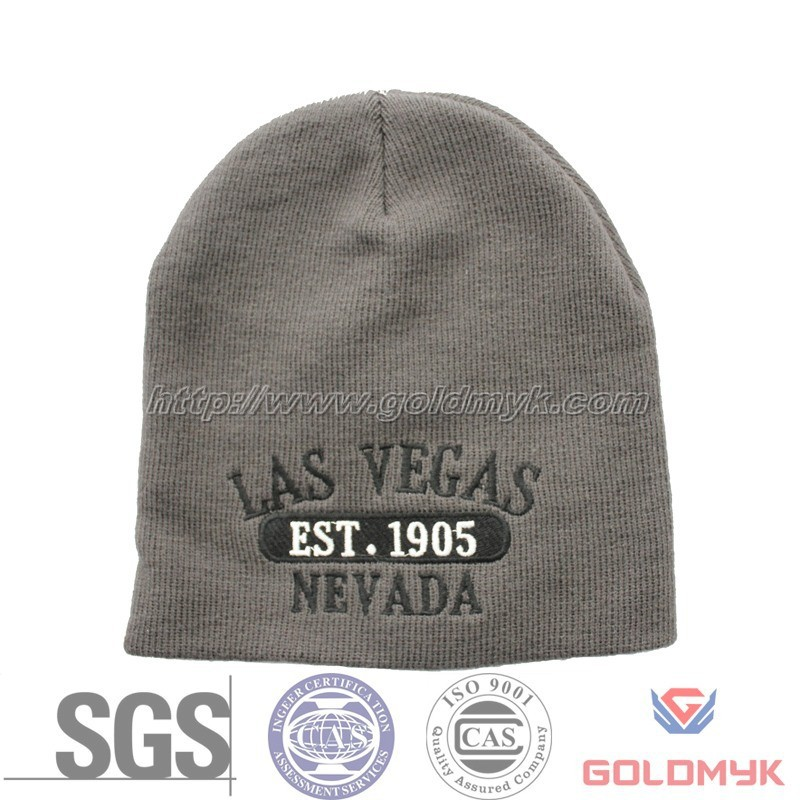 Custom knit beanie with embroidery logo
